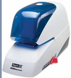 Rapid Agrafeuse électrique 20993210 capacité d'agrafage:50 feuilles (80 g/m²) blanc, bleu 1 pc(s)