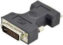 Digitus DVI / VGA Adaptateur [1x DVI mâle 24+5 pôles - 1x SUB-D femelle 15 pôles] noir blindage simple, blindé, rond