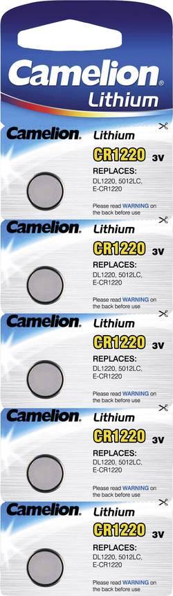 Pile bouton CR 1220 lithium Camelion 38 mAh 3 V 5 pc(s)