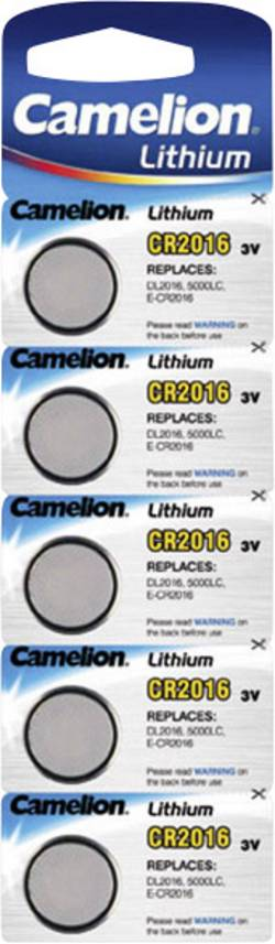 Pile bouton CR 2016 Camelion 75 mAh 5 pc(s)