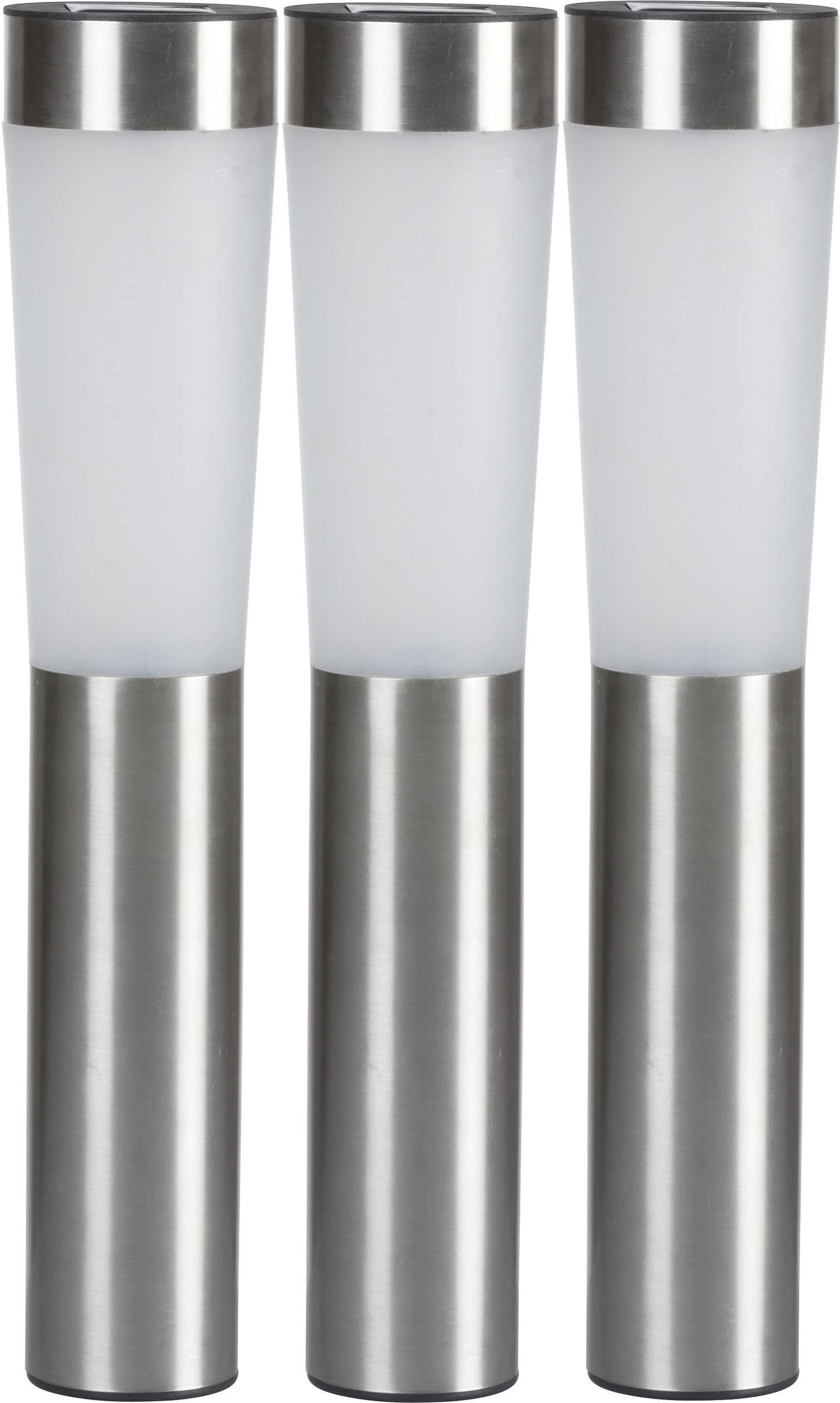 Lampe De Jardin Solaire Grundig Led Set De 3 Blanc Chaud Argent 3 Pc