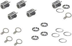 Lot de 5 embases femelles F argentées filetage 15 mm BKL Electronic 0403550 1 set