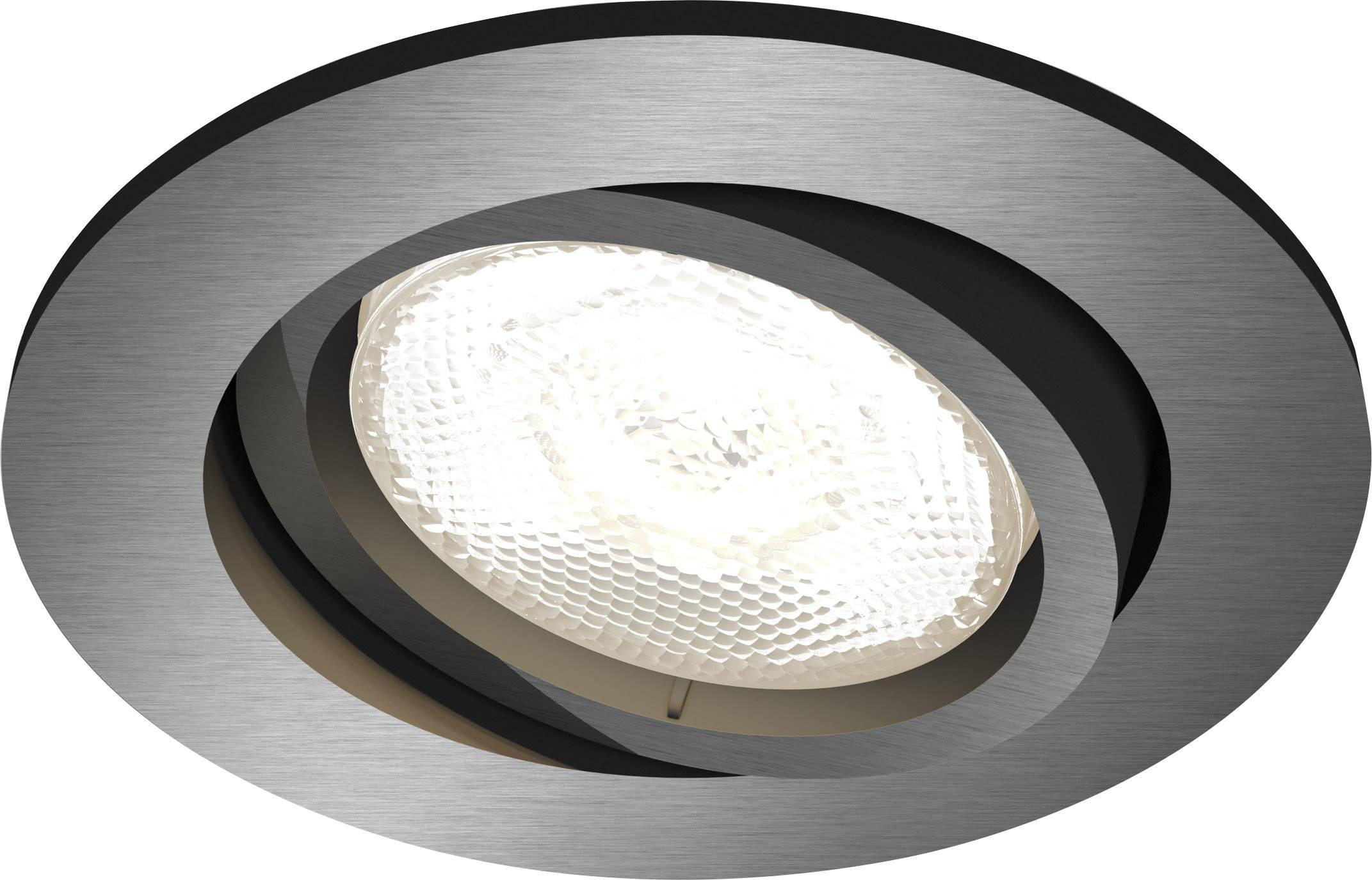 Spot Led Encastrable Led Intégrée Philips Lighting Shellbark 5020199p0 Blanc Chaud 4 5 W Anthracite