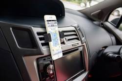 Support de téléphone portable pour voiture Basetech BT-SPH-KFZ100 pivotant à 360° grille de ventilation