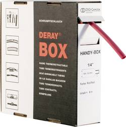 Gaine thermorétractable sans colle 2:1 DSG Canusa DERAY-Box 8610095302 rouge Ø avant retreint: 9.50 mm 5 m