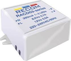 Source de courant constant pour LEDs 3 W 350 mA 12 V/DC Recom Lighting RACD03-350 Tension de fonctionnement (max.): 264