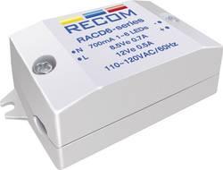 Source de courant constant pour LEDs 6 W 700 mA 8.4 V/DC Recom Lighting RACD06-700 Tension de fonctionnement (max.): 26