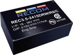 Convertisseur CC/CC pour circuits imprimés RECOM REC3.5-2412DRW/R10/A Nbr. de sorties: 2 x 24 V/DC 12 V/DC, -12 V/DC 145