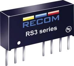 Convertisseur CC/CC pour circuits imprimés RECOM RS3-2412D Nbr. de sorties: 2 x 24 V/DC 12 V/DC, -12 V/DC 125 mA 3 W 1 p