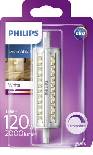 ampoule led r7s philips lighting 929001353601 en forme de tube 14 w 120 w blanc chaud x l. Black Bedroom Furniture Sets. Home Design Ideas