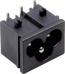 Connecteur secteur TRU COMPONENTS embase mâle horizontale Nbr total de pôles: 2 + PE 2.5 A noir 1 pc(s)