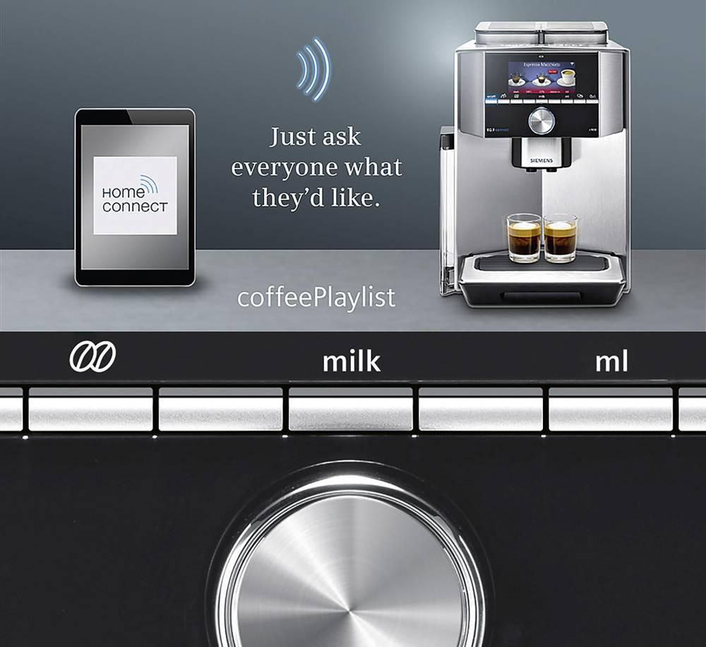 machine espresso siemens ti909701hc argent, noir sur le site
