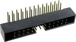 Connectique fil-à-carte sans levier d'éjection Pas: 2 mm Nbr total de pôles: 2