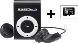 Basetech BT-MP-100 Lecteur MP3 8 Go noir/blanc cli