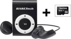Basetech BT-MP-100 Lecteur MP3 16 Go noir/blanc clip de fixation