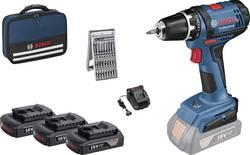 Perceuse-visseuse sans fil Bosch Professional 0615990J50 18 V 1.5 Ah Li-Ion + 3 batteries, + accessoires, + housse
