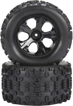Reely Roue complète pour MonsterTruck avec jantes 5 rayons et profil de pneus N/A (1592705 )