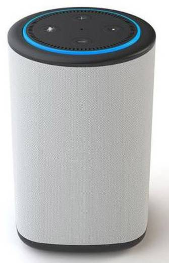 enceinte avec station d 39 accueil ninety7 vaux adapt pour assistant vocal amazon echo dot gris. Black Bedroom Furniture Sets. Home Design Ideas