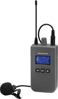Micro-cravate Microphone vocal Monacor ATS-60T Type de transmission:radio avec bonnette anti-vent