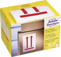 Etiquettes d'avertissement Avery-Zweckform 7250 74 x 100 mm papier rouge 200 pc(s)