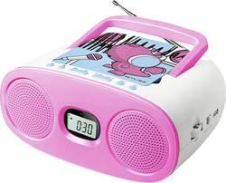 Lecteur CD pour enfants Muse M-23 KDG AUX, CD, FM, USB rose