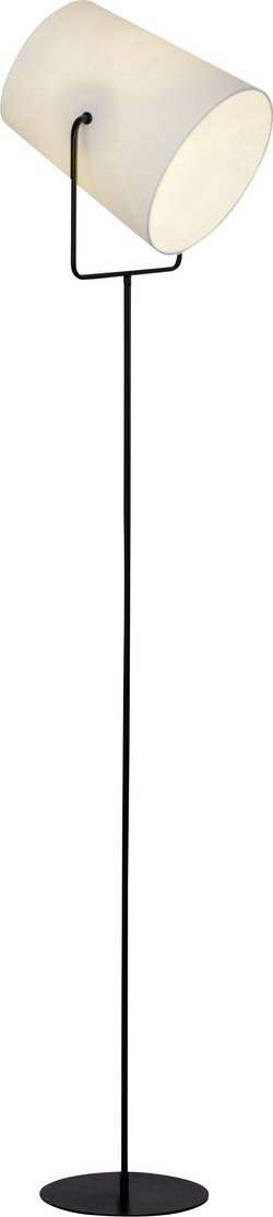 Lampe sur pied E27 Brilliant Bucket 60 W inclinable, avec interrupteur noir, blanc