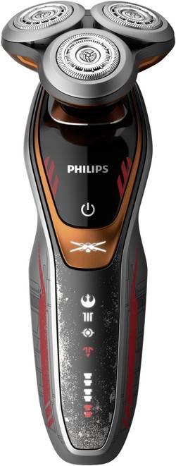 Rasoir à tête rotative Philips SW6700/14 anthracite, rouge, orange