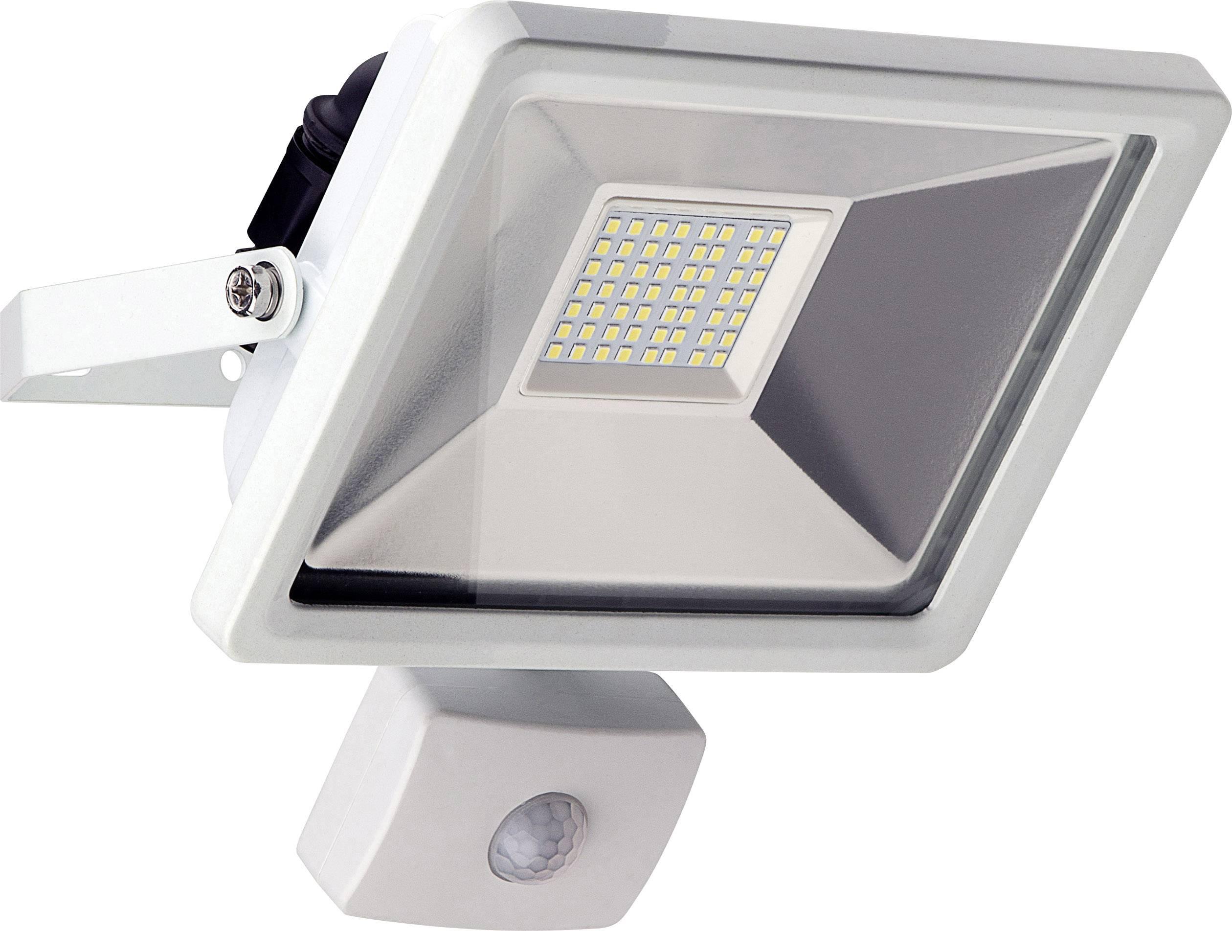 Projecteur LED Extérieur Avec Détecteur De Mouvements Blanc Lumière Du Jour  Goobay 30 W Blanc