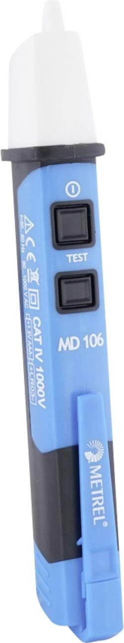 Metrel MD 106 Détecteur de tension sans contact CAT IV 1000 V Acoustique, LED d'usine (sans certificat)