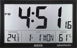 Eurochron EFWU Jumbo 100 radiopiloté(e) Horloge murale 370 mm x 230 mm x 30 mm noir