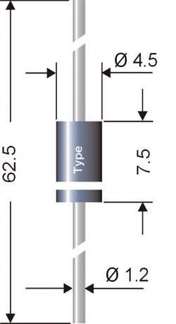 Semikron Diode de redressement Schottky SB160 DO-15 60 V