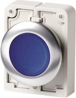 Bouton-poussoir à accrochage plat, rond, chromé Eaton M30C-FDRL-B 182954 bleu 1 pc(s)