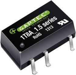 Convertisseur CC/CC CMS Gaptec 1T8A_0515S1.5UP 10070281 5 V/DC 15 V/DC 67 mA 1 W Nbr. de sorties: 1 x 1 pc(s)