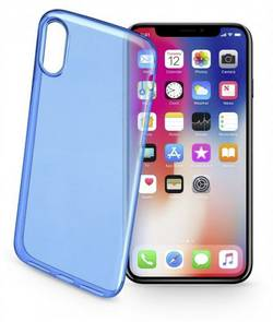 Coque arrière Cellularline COLORCIPH8B Adapté pour: Apple iPhone X, bleu (transparent)