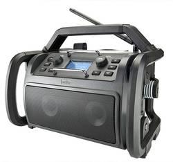 Radio de chantier FM audisse Shokunin noir résistant aux coups, étanche à la poussière, étanche à l'eau