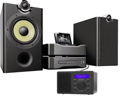 Radio de bureau fm renkforce rf ir mono noir compatible dlna