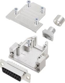 Kit SUB-D femelle femelle, droit 15 pôles encitech DCRP15-DBS-CF65-CS80-K 6355-0881-12 180 ° fût à souder 1 pc(s)