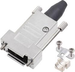 Capot SUB-D 9 pôles encitech DTSL09-RG-LJS-T-K 6560-0247-31 tout en métal 180 ° argent 1 pc(s)