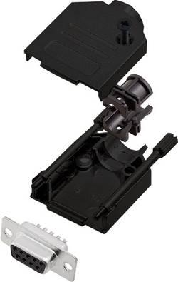 Kit SUB-D femelle femelle, droit 9 pôles encitech DTZK09-BK-DBS-K 6355-0101-11 180 ° fût à souder 1 pc(s)