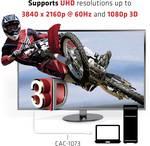 Câble Club 3D DisplayPort 1.2 sur adaptateur actif HDMI 2.0 UHD 4K60Hz
