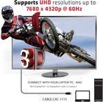Câble Club 3D Mini DisplayPort sur DisplayPort 1.4 HBR3 8K60Hz mâle / mâle 2 mètres