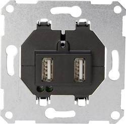 Prise USB Kopp 296101185 aluminium 2 prises