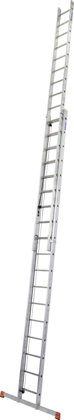Echelle coulissante à corde aluminium Krause 129871 traverse incluse Hauteur de travail (max.): 9.80 m 27.6 kg 1 pc(s)