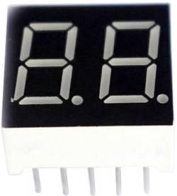 Afficheur 7 segments TRU COMPONENTS TRU-7S2-56RAG Nombre de chiffres: 2 rouge 13.2 mm 2 V 1 pc(s)