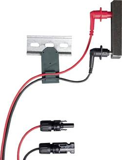 Gossen Metrawatt Z502Y Set de cordons de mesure de sécurité[pointe de test -MC mâle ] noir, rouge