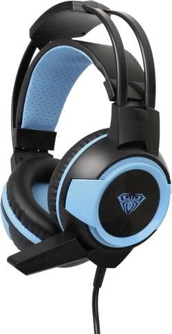 Micro-casque de gaming circum-aural filaire AULA Shax noir, bleu