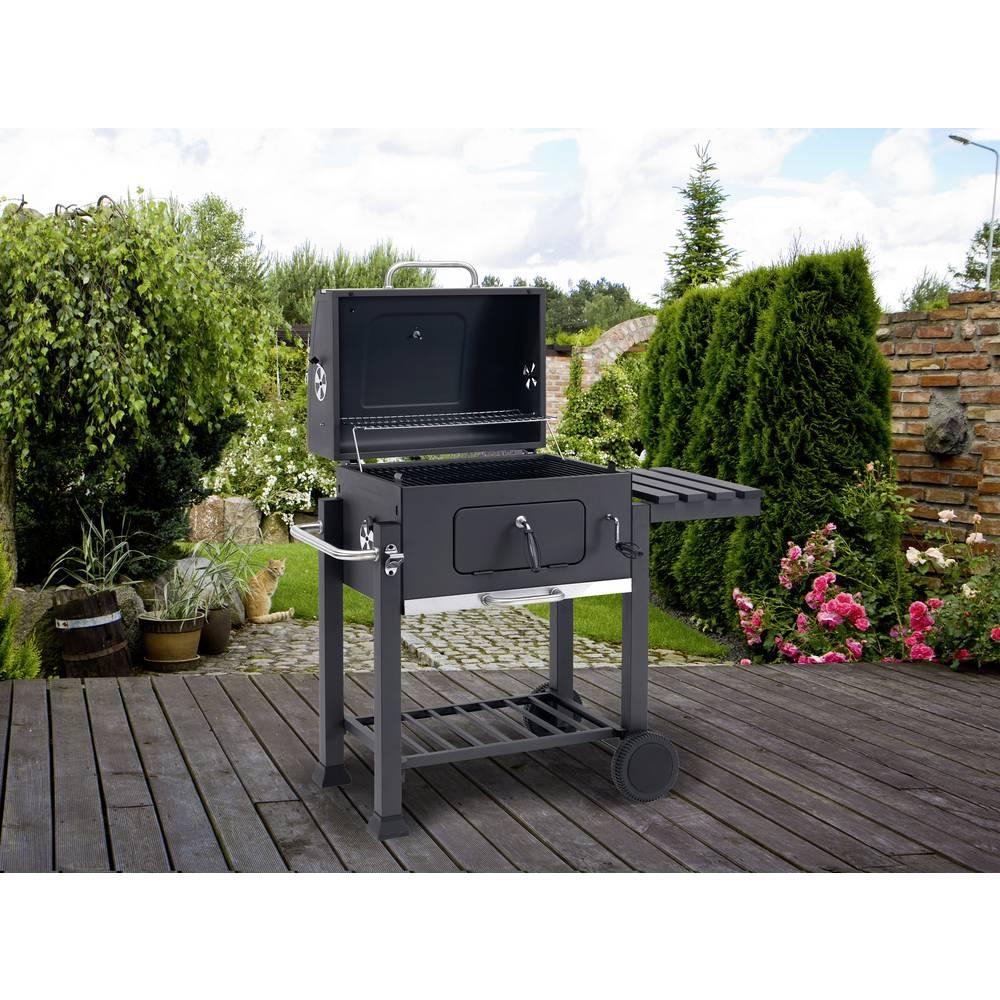 barbecue au charbon de bois tepro garten toronto click noir, acier