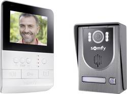 Somfy 2401330 Interphone vidéo filaire Set complet 1 foyer aluminium, blanc, noir