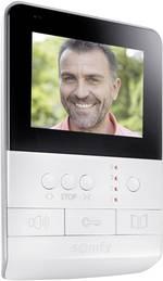 Somfy 2401384 Interphone vidéo radio Station intérieure 1 foyer blanc, noir