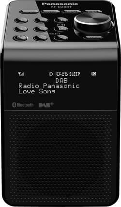 Radio-réveil FM Panasonic RF-D20BTEG noir étanche à l'eau